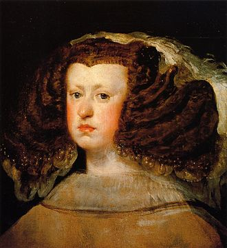 Charles II of Spain - Mariana of Austria by Diego Velázquez, c. 1656; she acted as Regent for much of Charles' reign