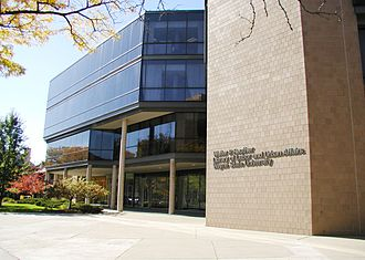 Walter P. Reuther Library - A view of the Walter P. Reuther Library of Labor and Urban Affairs in Detroit, Michigan.