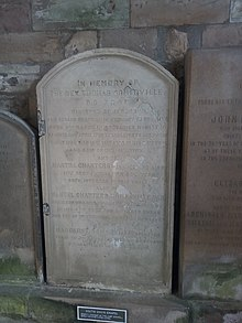 His grave in Jedburgh Abbey