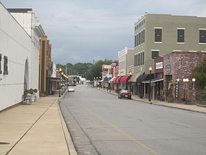 Winnsboro, Louisiana - A glimpse of the downtown historic district of Winnsboro
