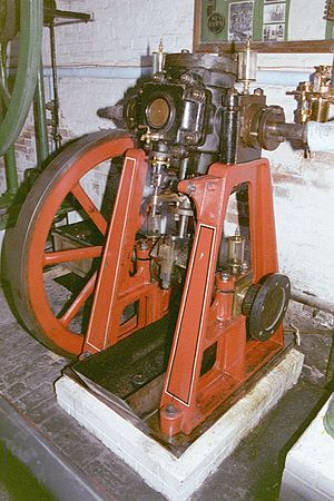 Oscillating cylinder steam engine - Image: Rew 230 25