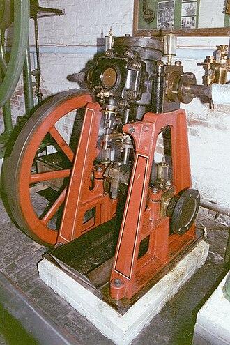 Oscillating cylinder steam engine - Image: Rew 230 25