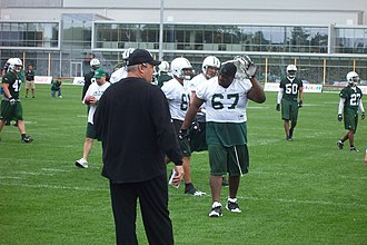 Rex Ryan - Ryan as head coach, conducting a June 2009 New York Jets mini-camp at their Florham Park, New Jersey training center