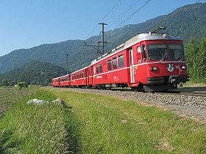 Rhaetian Railway Be 4/4 - Be 4/4 no 515 at Rhäzüns