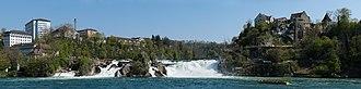 Rhine Falls - Image: Rheinfall Panorama revised