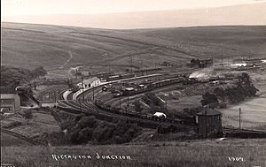 Waverley Route - Riccarton Junction in the 1900s.