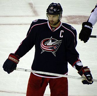 Rick Nash - Nash was named captain of the Blue Jackets in 2008, maintaining the position until he was traded to the New York Rangers in 2012.