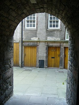 John MacMorran - Looking into the courtyard of Riddle's Court where MacMorran lived