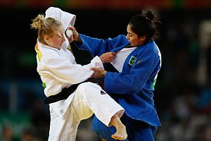 Judo at the 2016 Summer Olympics – Women's 63 kg - Image: Rio 2016 Judo 1036109 090816judo 01756