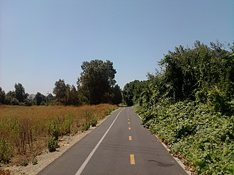 Rio Hondo bicycle path - Rio Hondo bike path between El Monte airport and Rosemead Blvd