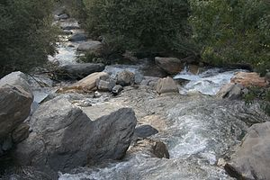 The Genil river, near its birth, Sierra Nevada...