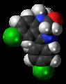Ro5-4864 molecule spacefill.png