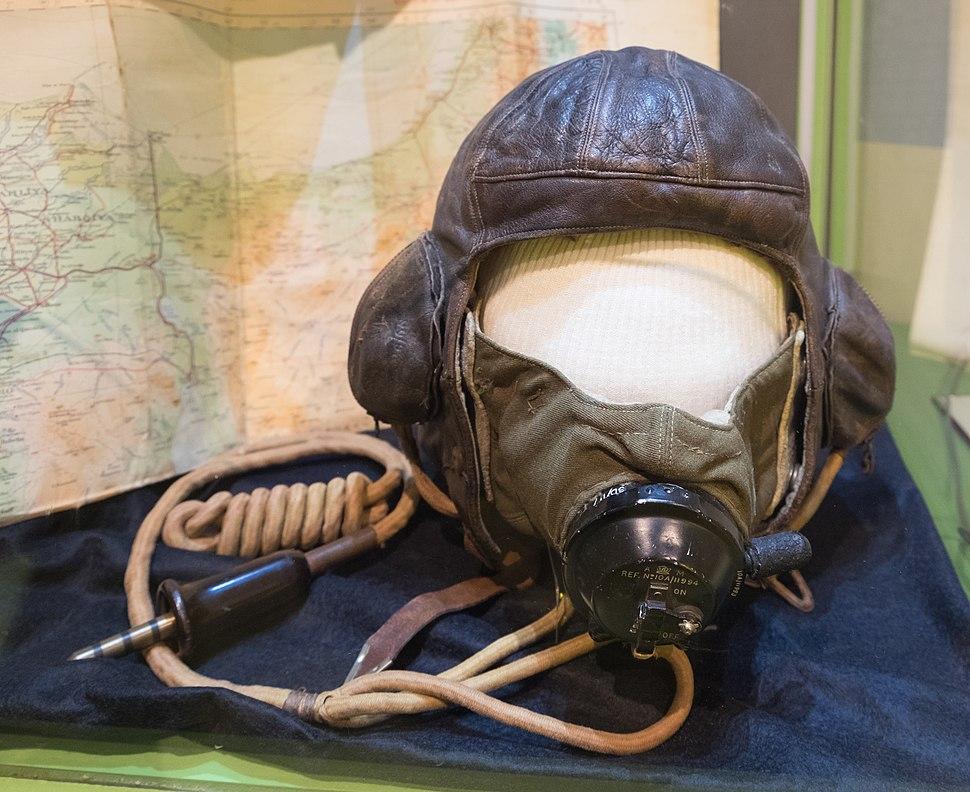 Roald Dahl's leather flying helmet