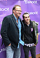 Rob Cavallo and Pete Wentz October 2009 Yahoo Yodel Studio 2.jpg
