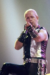 Rob Halford from Judas Priest in 1984