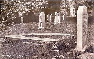 Balquhidder - Rob Roy's Grave.Postcard c.1910-1920
