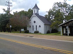 Robeline Methodist Church off Texas Street