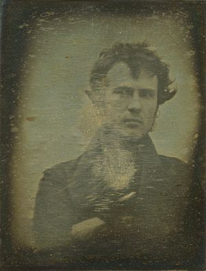 Selfie - Photographic self-portrait by Robert Cornelius, 1839