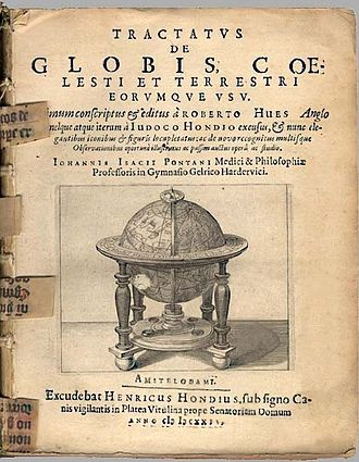 Robert Hues - The title page of a 1634 version of Hues' Tractatus de globis in the collection of the Biblioteca Nacional de Portugal