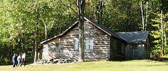 Robert Frost Farm (Ripton, Vermont) - Frost's cabin (pictured) is uphill from the Homer Noble farmhouse.