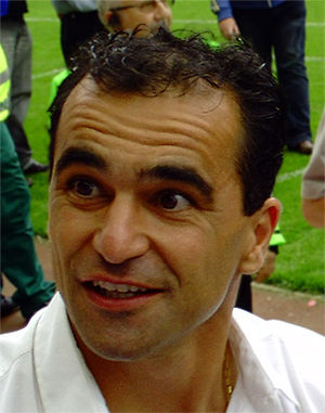 Roberto Martinez at the DW Stadium, 9th August...