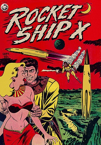 VTVL - Vertical landing rocket depicted in 1951 comic Rocket Ship X