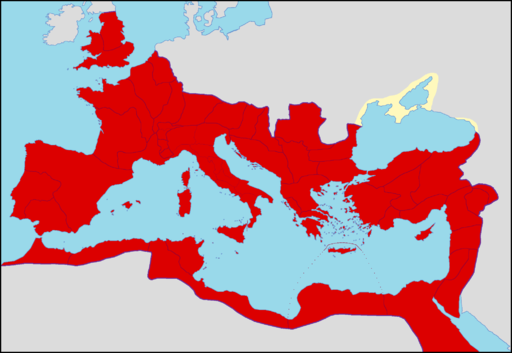 Roman Empire in 210 AD