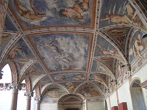 Romanino, View of the fresco painting decorati...