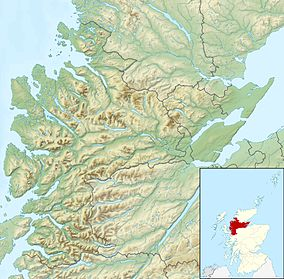 Map showing the location of Beinn Eighe National Nature Reserve