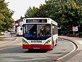 Rossendale Transport bus 171 Dennis Dart Caetano Nimbus HV52 WSO in Bury, Greater Manchester 26 September 2008.jpg