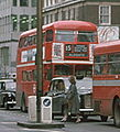 Routemaster bus in Oxford Street, route 15, 1976.jpg
