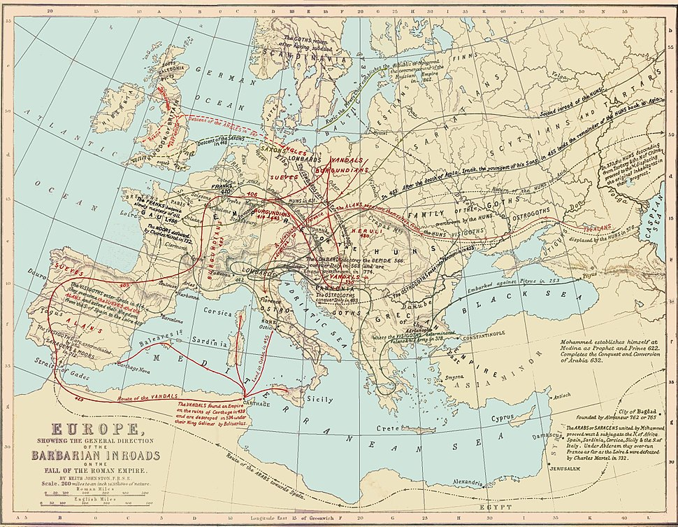 Routes of Barbarian Invasions
