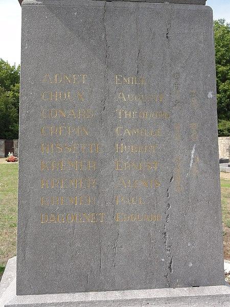 Rouvrois-sur-Othain (Meuse) monument aux morts