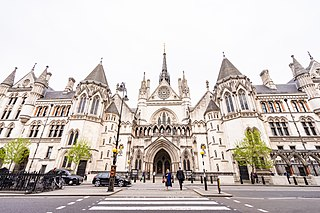 Royal Courts of Justice court building in London, England