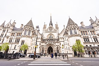 Royal Courts of Justice - The façade onto Strand