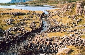"""Scandinavian Scotland - The """"Viking Canal"""" leaving Loch na h-Airde, Rubha an Dùnain."""