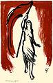 Rudolf Heinisch, Frau mit roter Fahne, 1918.jpg