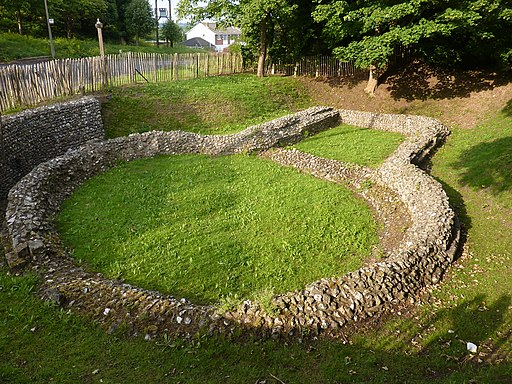 Ruins of Templar Church, Western Heights, Dover - panoramio