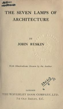 Ruskin - The Seven Lamps of Architecture.djvu