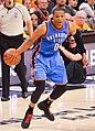 Russell Westbrook dribbling vs Cavs (cropped).jpg