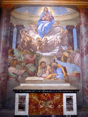 Assumption of the Virgin, by Daniele da Volter...