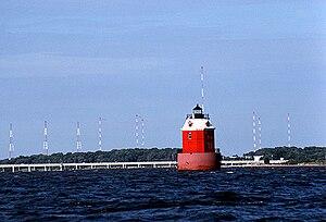 Sandy Point Shoal Light - Sandy Point Shoal Light in July 1991