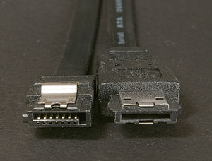 Serial ATA - SATA (left) and eSATA (right) connectors