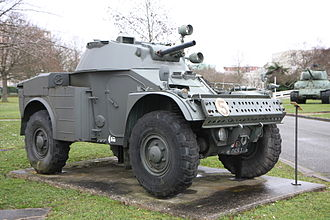Panhard AML - Panhard AML-60, one of several which entered service with the French Mobile Gendarmerie.