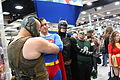 SDCC 2012 - Bane, Superman & Batman (7573030322).jpg
