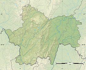 Voir sur la carte topographique de Saône-et-Loire