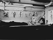 Sailor's bunk aboard fleet sub