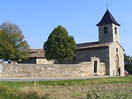Saint Lazare Church in the hamlet of Saint-Martin-de-Cornas, part of Givors
