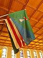 Saint John the Baptist church. Int. Flags 01. - Apor Vilmos Sq., Budapest District XII.JPG