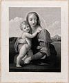 Saint Mary (the Blessed Virgin) with the Christ Child. Engra Wellcome V0034134.jpg